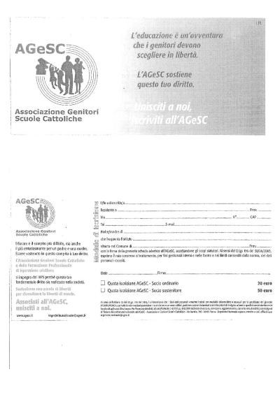 Adesione quota AGeSC_Primaria