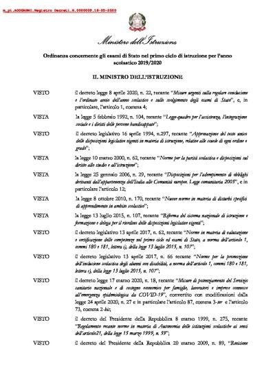 Ordinanza-esami-scuole-medie 15.05.2020