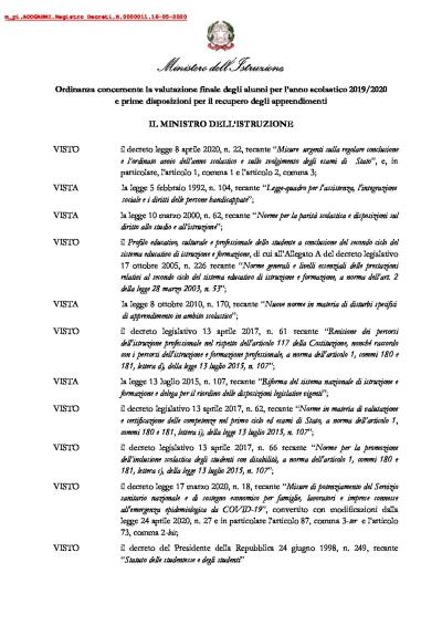 Ordinanza-valutazioni-finali-scuola-2020 15.05.2020